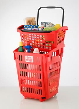 Diseño de cesta, Shop&Roll System para Araven