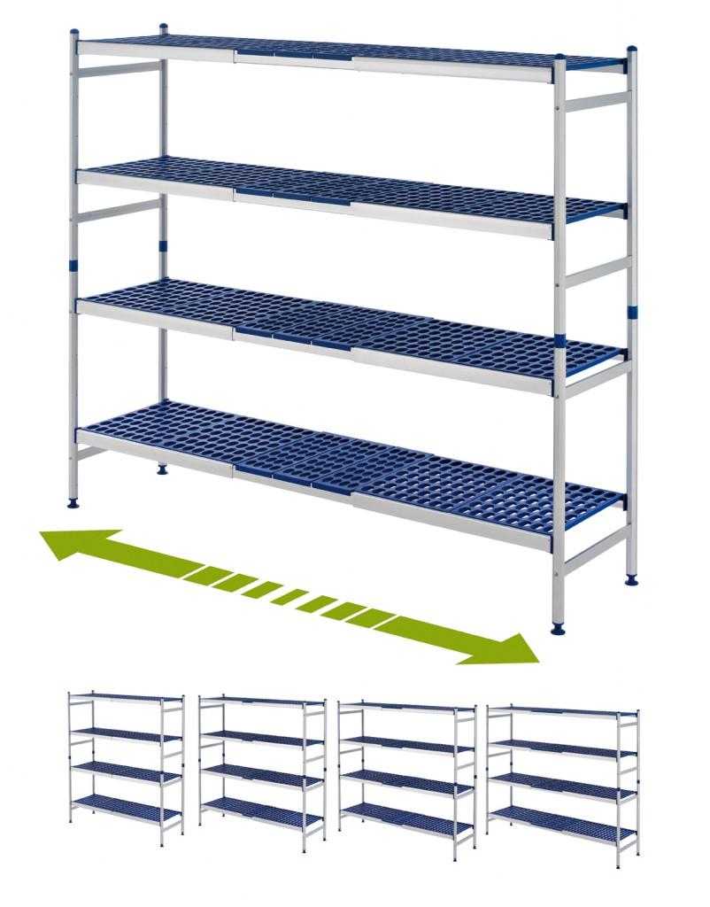 Araven, diseño de Estanterias extensibles para hostelería