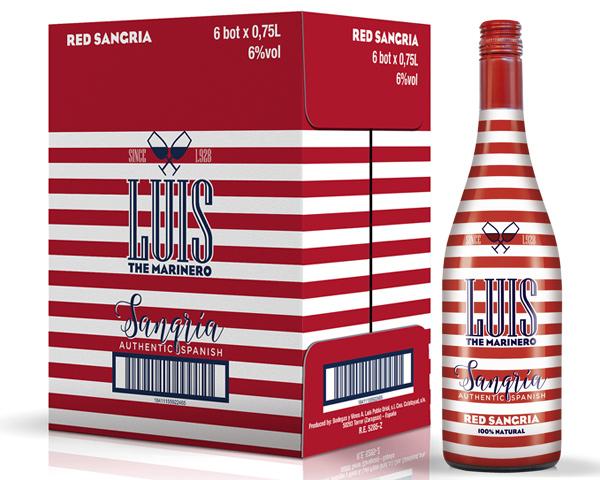 """Diseño de envase para Sangría Luis """"The Marinero"""""""