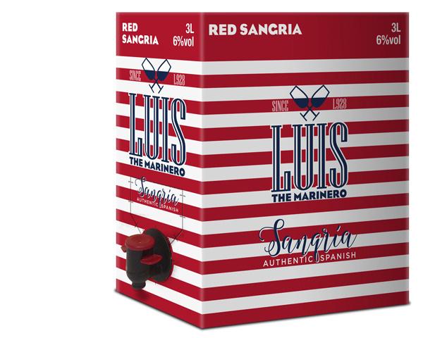 Luis The Marinero, grifo y botella mini, envase y Packaging