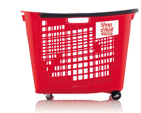 Cesta SHOP & ROLL 55 L Araven, Diseño de producto