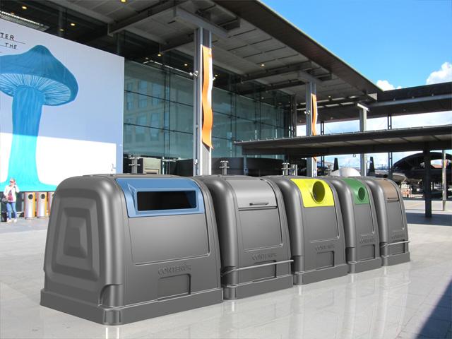 Contenedor 2Side System para la recogida selectiva de residuos