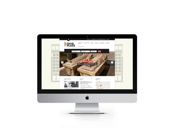 Hotel Teruel Plaza diseño website y posicionamiento SEO