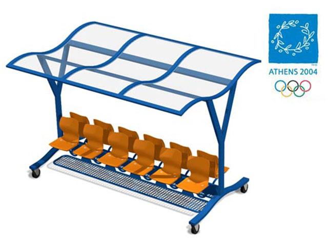 MONDO. Banquillo para Juegos Olímpicos ATHENS 2004