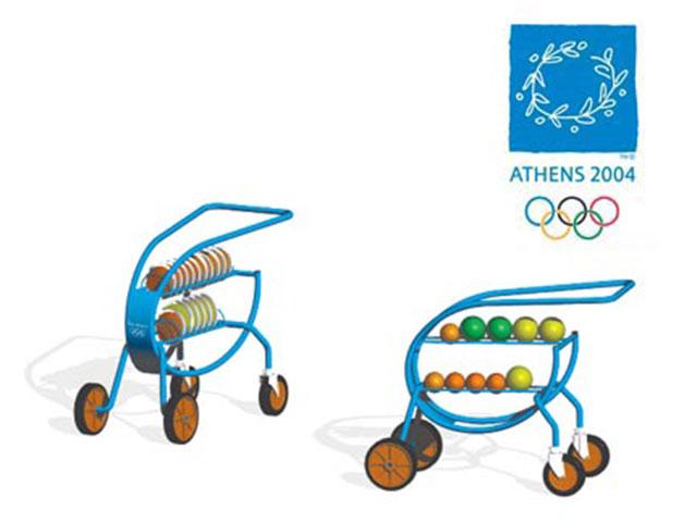MONDO. Carros  para Juegos Olímpicos ATHENS 2004