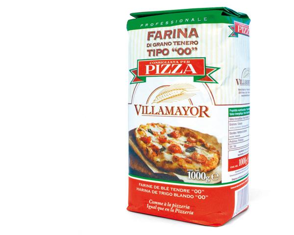 Harineras Villamayor: Envase de harina para pizza 1 kg