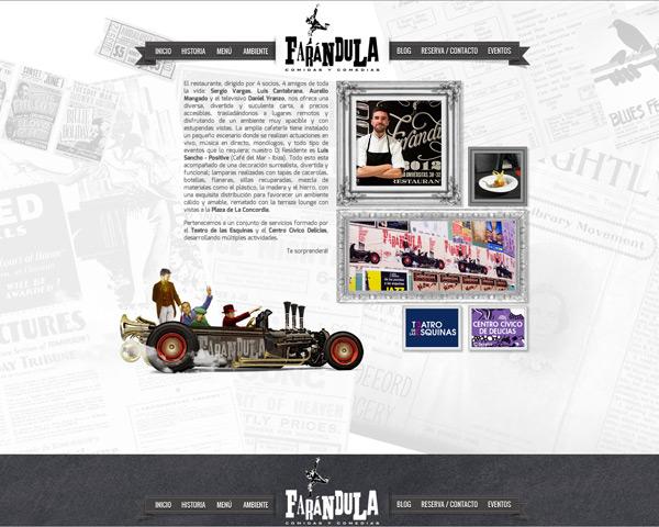 Restaurante Farándula. Web