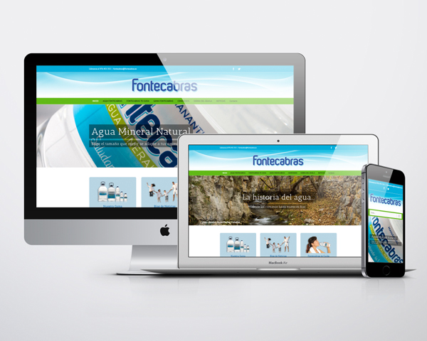 Diseño web sobre CMS para Fontecabras