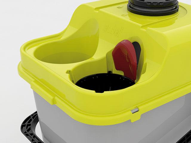 Cubo Embell 16 l, el primer equipo de fregado que siempre utiliza agua limpia.