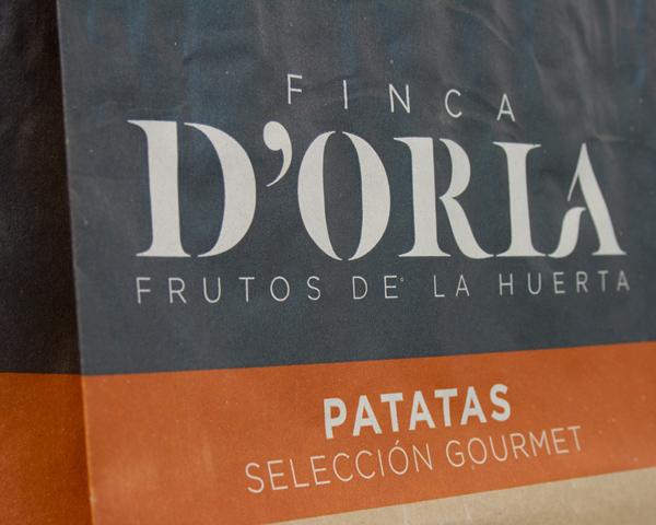 Finca DORIA naming, marca y packaging alimentación