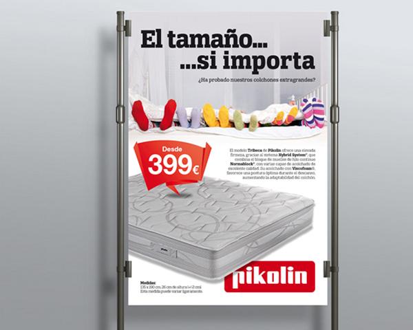 Campaña gráfica Pikolin en punto de venta