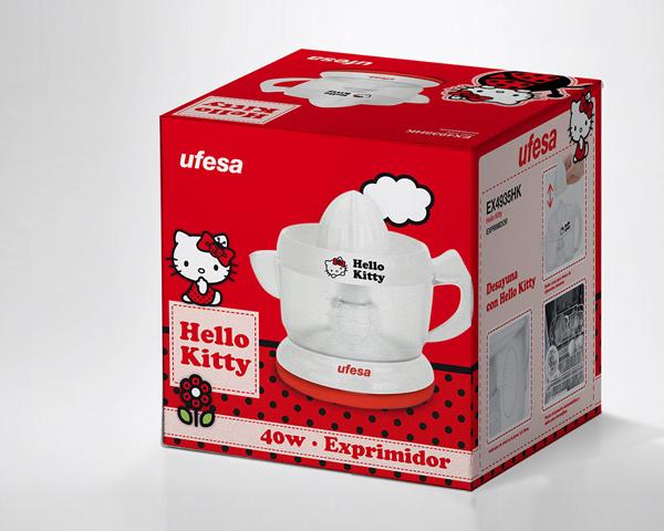 Ufesa. Gama Hello Kitty, desarrollo de envase y producto